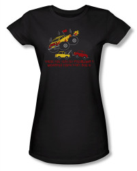 Image for There are Very Few Problems a Monster Truck Can't Solve Girls Shirt