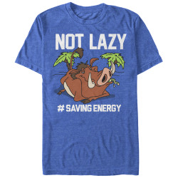 Image for The Lion King Not Lazy Heather T-Shirt