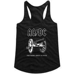 Image for AC/DC For Those About to Rock Classic Juniors Racerback Tank Top