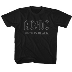 Image for AC/DC Classic Back in Black 3 Youth T-Shirt