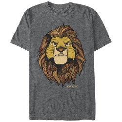 Image for The Lion King Heather T-Shirt - Africa King