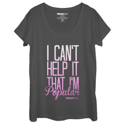 Image for Mean Girls Juniors Scoop Neck Heather Shirt - Can't Help It