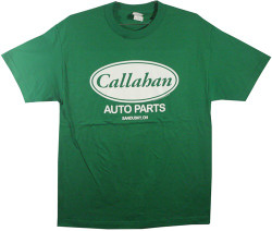 Image Closeup for Tommy Boy Callahan Auto Parts T-Shirt