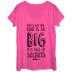 Image for Mean Girls Juniors Scoop Neck Heather Shirt - Full of Secrets