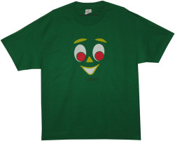 Image Closeup for Gumby Face T-Shirt