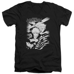 Image for Bleach V Neck T-Shirt - Swords