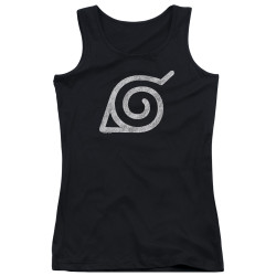 Image for Naruto Shippuden Girls Tank Top - Distressed Leaves Symbol