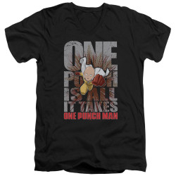 Image for One Punch Man V Neck T-Shirt - One Punch is All it Takes