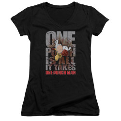Image for One Punch Man Girls V Neck - One Punch is All it Takes