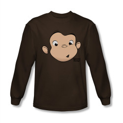 Image for Curious George Face Long Sleeve T-Shirt