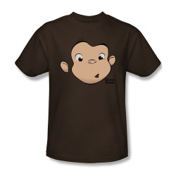 Image Closeup for Curious George Face T-Shirt