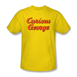 Image Closeup for Curious George Logo T-Shirt
