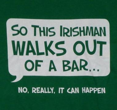 Image for So an Irishman Walks Out of a Bar... T-Shirt
