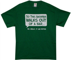 Image Closeup for So an Irishman Walks Out of a Bar... T-Shirt