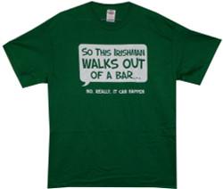 Image Closeup for So an Irishman Walks Out of a Bar... T-Shirt