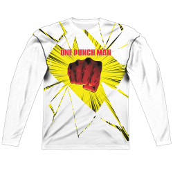 Image for One Punch Man Sublimated Long Sleeve - Shattered