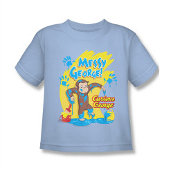 Image for Curious George Messy George Kids T-Shirt