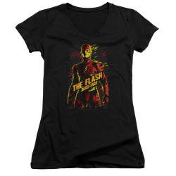 Image for Justice League Movie Girls V Neck - the Flash