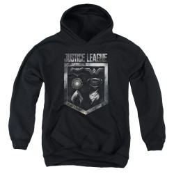 Image for Justice League Movie Youth Hoodie - Shield of Emblems