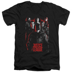 Image for Justice League Movie V Neck T-Shirt - Dark League