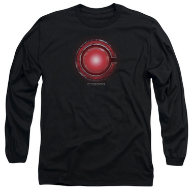 Image for Justice League Movie Long Sleeve Shirt - Cyborg Logo