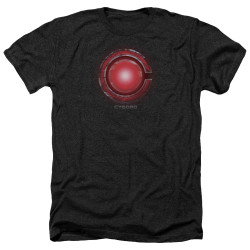 Image for Justice League Movie Heather T-Shirt - Cyborg Logo