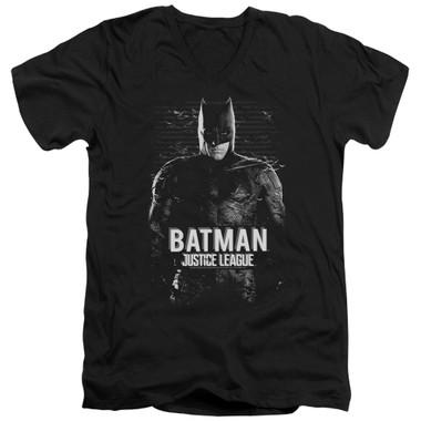 Image for Justice League Movie V Neck T-Shirt - Batman