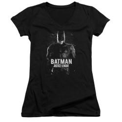 Image for Justice League Movie Girls V Neck - Batman