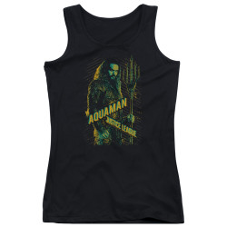 Image for Justice League Movie Girls Tank Top - Aquaman