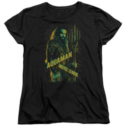 Image for Justice League Movie Womans T-Shirt - Aquaman