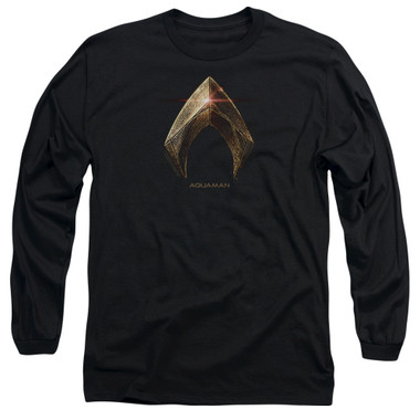 Image for Justice League Movie Long Sleeve Shirt - Aquaman Logo