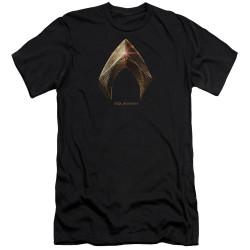 Image for Justice League Movie Premium Canvas Premium Shirt - Aquaman Logo