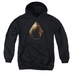 Image for Justice League Movie Youth Hoodie - Aquaman Logo
