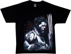 Image Closeup for Wolverine T-Shirt - Blood 'n Steel