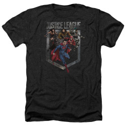 Image for Justice League Movie Heather T-Shirt - Charge