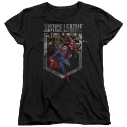 Image for Justice League Movie Womans T-Shirt - Charge