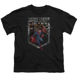 Image for Justice League Movie Youth T-Shirt - Charge