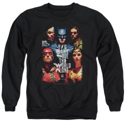 Image for Justice League Movie Crewneck - Save the World