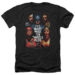 Image for Justice League Movie Heather T-Shirt - Save the World