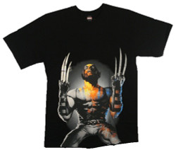 Image Closeup for Wolverine T-Shirt - Why Me