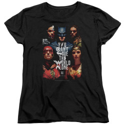 Image for Justice League Movie Womans T-Shirt - Save the World