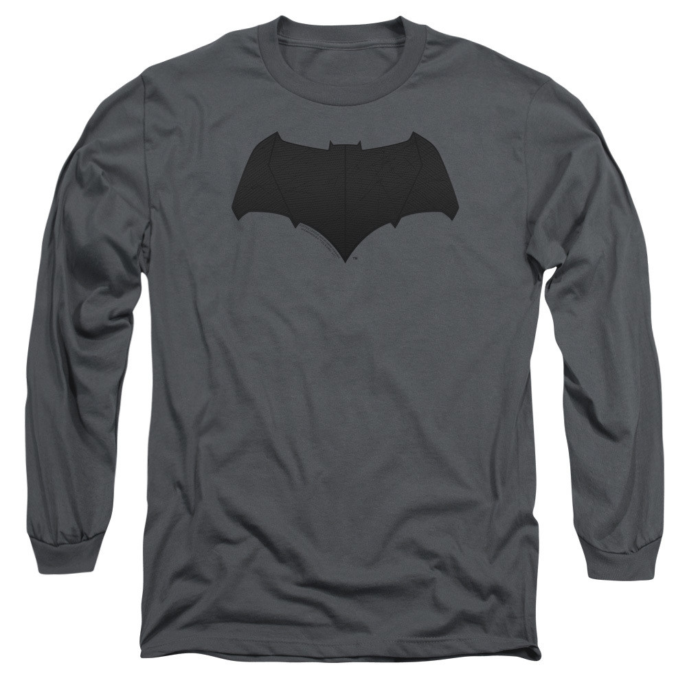 9dc1fdca Justice League Movie Long Sleeve Shirt - Batman Tone Logo - NerdKungFu