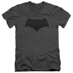 Image for Justice League Movie V Neck T-Shirt - Batman Tone Logo