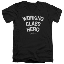 Image for John Lennon V Neck T-Shirt - Working Class Hero