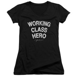 Image for John Lennon Girls V Neck - Working Class Hero
