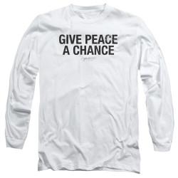Image for John Lennon Long Sleeve Shirt - Give Peace a Chance