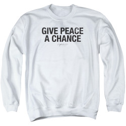 Image for John Lennon Crewneck - Give Peace a Chance