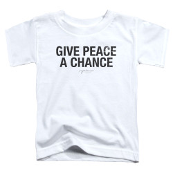 Image for John Lennon Toddler T-Shirt - Give Peace a Chance