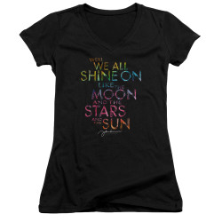Image for John Lennon Girls V Neck - All Shine On