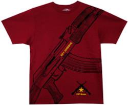 Image Closeup for Say Goodbye AK-47 T-Shirt